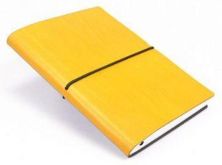 Yellow Ciak blank leather Journal